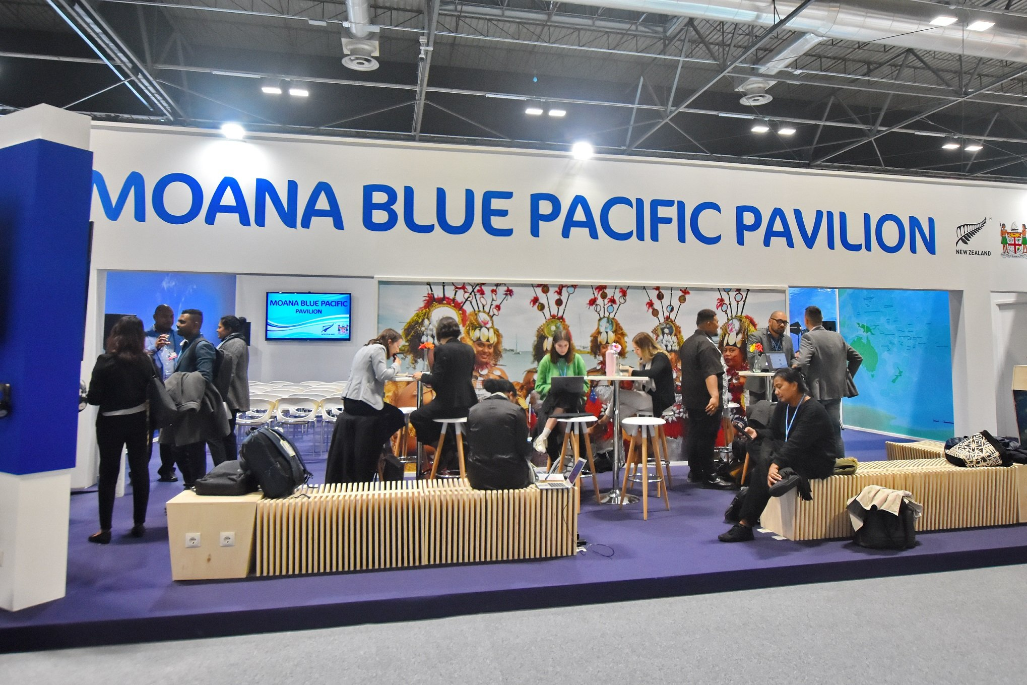 Pacific island nations at COP25 in Madrid. Photo by Allan Jay Quesada